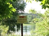 No swimming across to Ukraine!